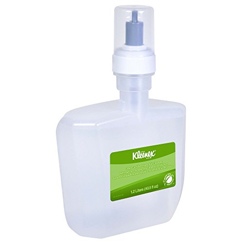 Hand Cleanser Dispenser - Kleenex Green Certified Foaming Hand Soap (91591), Unscented, Clear, 1.2 L, 2 Packages/Case