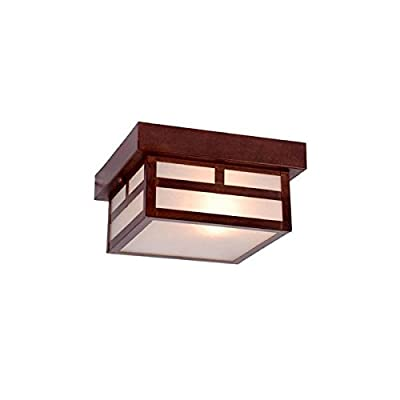 Acclaim 4708ABZ Artisan Collection 1-Light Ceiling Mount Outdoor Light Fixture, Architectural Bronze