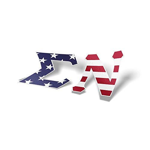 Sigma Nu Fraternity USA Letter Sticker Decal Greek 2 Inches Tall for Window Laptop Computer Car Sig Nu