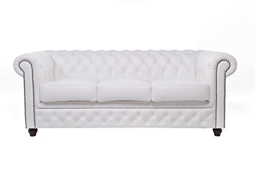 The Chesterfield Brand - Sofá Chester Brighton Blanco - 3 ...