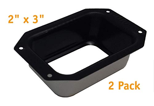 (Rainware supply 2x3 Aluminum C Style Gutter Drop Outlet (2 pack))