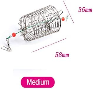 Small Bait Cage Fishing lure Trap Basket Feeder Holder Stainless Steel Wire G