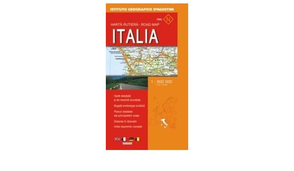 Harta Rutiera Italia Scara 1 800 000 Romanian Edition