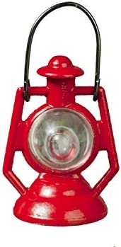 Melody Jane Dollhouse Red Oil Lamp Lantern 1:12 Scale Non Working Ornamental Accessory