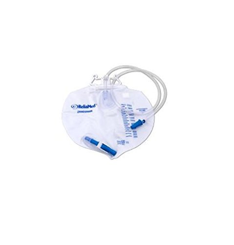 ReliaMed Standard Vented Drainage Bag 2,000 mL - Wholesale Bags Drainage