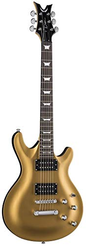 Dean Guitars 6 String Dean Icon X Solid Body Electric Guitar – Satin Gold (ICONXSGD)
