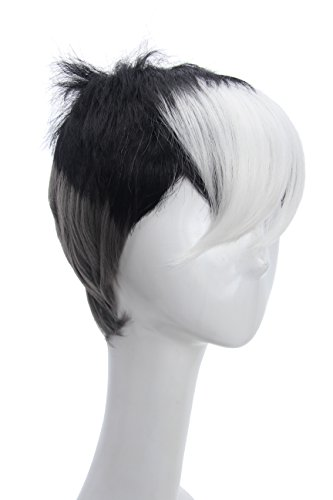 Price comparison product image Soul Wigs: Halloween Cosplay Tricolor Wig Inspired by Voltron Shiro in Legendary Defender (Gray Black White) for Men