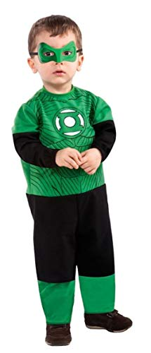 Green Lantern Hal Jordan Ez-On Romper Costume, Black/Green, Infant -