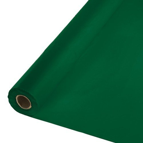 Hunter Plastic Plate (Creative Converting Touch of Color Plastic Tablecover Banquet Roll, 250', Hunter Green)
