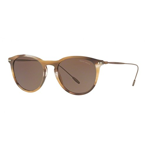 Hombre 566073 para Brown de Sol Striped 0AR8108 Marrón 51 Brown Armani Gafas wYxUOgaq