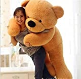 Stuffed Spongy Hugable Cute Teddy Bear Cuddles Soft Toy For Kids Birthday / Return Gifts Girls Lovable Special Gift High Quality 5 FEET Pink Color (BROWN)
