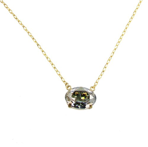 Catherine-Popesco-Gold-Plated-Oval-Shade-Swarovski-Crystal-Pendant-Necklace-162-Extender