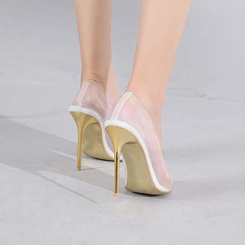 c8b1e47ce2f [해외구매대행 $29.99] Mackin J 188-7 Transparent Pointed Toe Slip On Stiletto  High Heel Pump