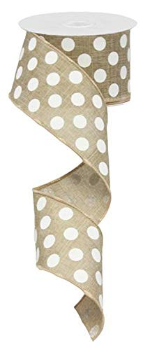 EXPRESSIONS Polka Dot Wired Edge Ribbon (2.5