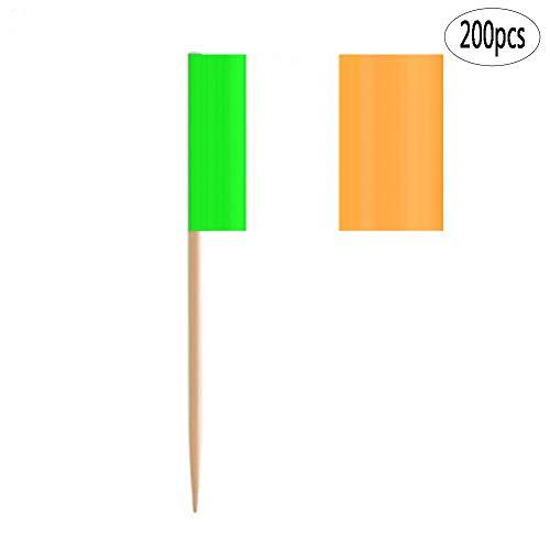 Patricks Day Picks - BinaryABC St Patrick's Day Decorations,Irish Ireland Flag Picks Food Toothpicks,200Pcs (Ireland)