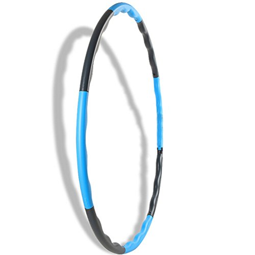 SNNplapla Heavy Weighted Collapsible Hula Hoop Workout Fat Burning Fitness Detachable Exercise Dance Snap On Blue