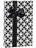 Black & White Geometric Links Geo Gift Wrap Wrapping Paper - 16ft Roll