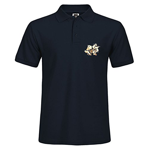 Men Navy Polo Shirt Short Sleeve For Summer Wear Arcanine Casual Shirt With Collar Large (Coupons Online Polo)