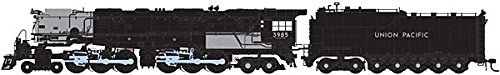 HO 4-6-6-4 w/DCC & Sound Oil Tender, UP #3985 by Athearn -  5320131
