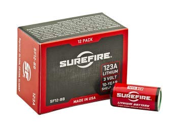 SureFire SF12-BB 123A CR123 3-Volt Lithium Batteries - 10 Pack by SureFire