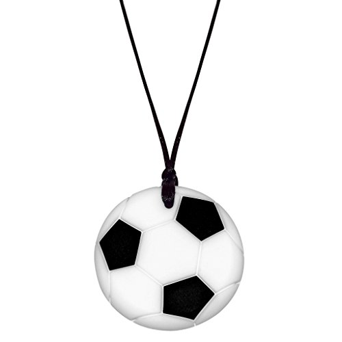 (Munchables Soccer Ball Chew Necklace for Kids - Sensory Chew Jewelry )