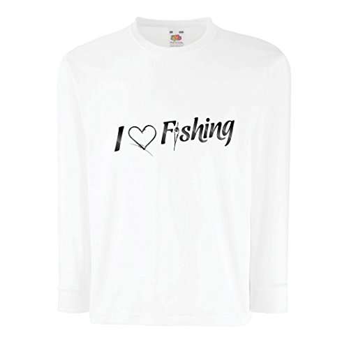 Ringer T-shirt Kids Fish (lepni.me Kids T-Shirt Funny Fishing Lover Gift, I Love of Fish, Fisherman (14-15 Years White Multi Color))