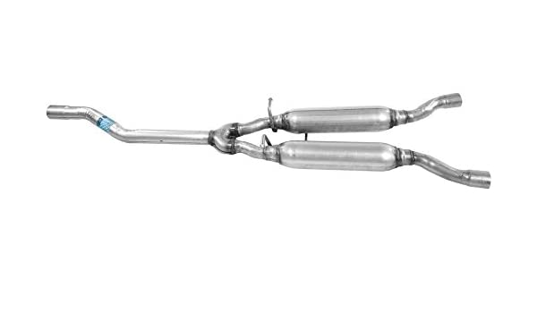 Center Exhaust Resonator and Pipe Assembly For 2002-2005 Audi A4 Quattro