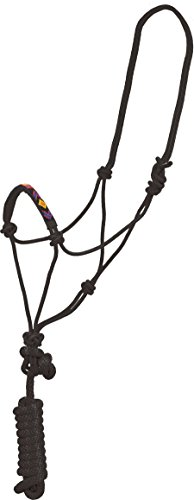 Mustang Indian Beaded Rope Halter Black