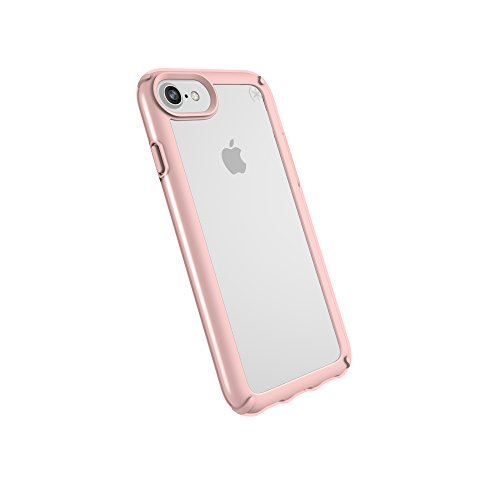 Speck iPhone 8 Presidio Show Case, Show Off Your Phone and Stay Protected with IMPACTIUM 10-Feet Drop Protection, Clear/Rose Gold