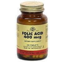 33984000000 Vitamin Folic Acid 400mcg Tablets Vegetarian 250 Per Bottle by Solgar Vitamin & Herb Co -Part no. 33984000000 (Tabs Vegetarian 250)
