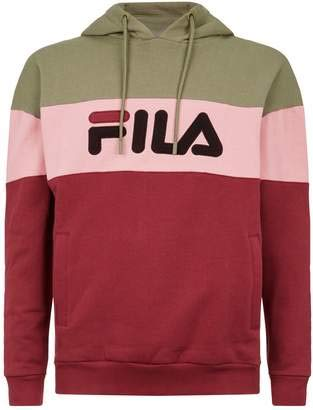 5fe7366eec05 Fila Men's Flamino Fleece Hoody Dry Grass/Tibetan Red/Pink S & Towel Bundle