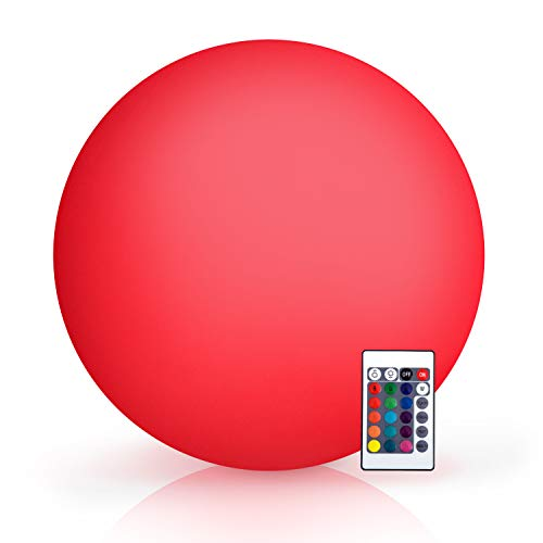 HomCom 16 RGB Waterproof Rechargeable Adjustable Color Changing Ball With Remote Control