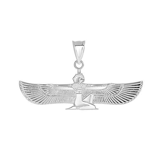 (Fine 925 Sterling Silver Egyptian Winged Goddess Isis Charm)