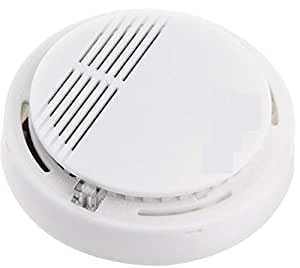 Star For Shop School Home Office Company Cordless Smoke-Detector Fire-Alarm Photoelectric Sensor White