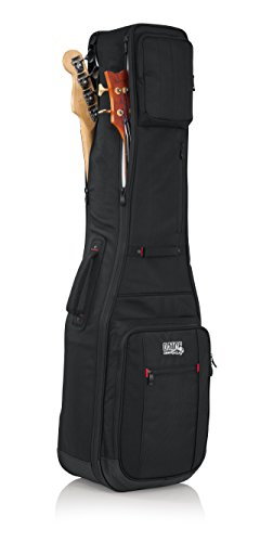 Case Bass Guitar Bass - Gator Cases Pro-Go Ultimate Double Guitar Gig Bag; Holds (2) Bass Guitars (G-PG BASS 2X)