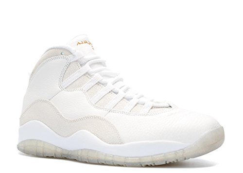 Nike Heren Air Jordan 10 Retro Ovo Drake Top Wit / Metallic Goud Leer