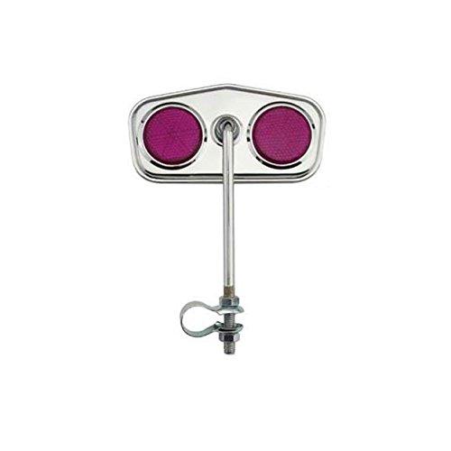 - Alta Diamond Pentagon Bicycle Mirror Chrome, Reflectors Multiple Colors. (Purple)
