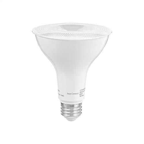 AmazonCommercial 75 Watt Equivalent, 15000 Hours, Dimmable, 800 Lumens, Energy Star Compliant, E26 Base, PAR30 LED Light Bulb - Pack of 10, Soft White