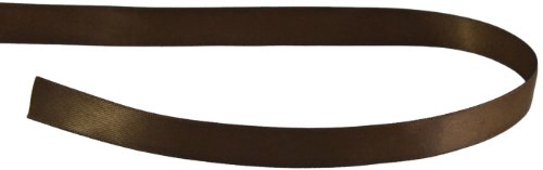 Kel-Toy Double Face Satin Ribbon, 7/8-Inch by 25-Yard, Chocolate Brown