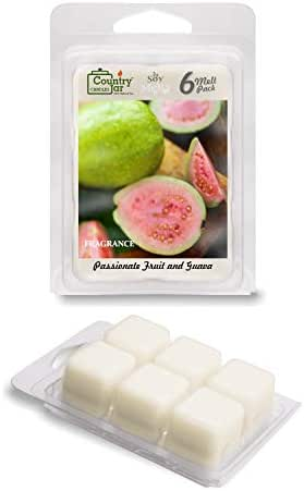 Country Jar PASSIONFRUIT and Guava Soy Wax Melts/Tarts (2.75 oz. 6-Cube Pack) Pick 3 Sale! 3 or More (Mix or Match)