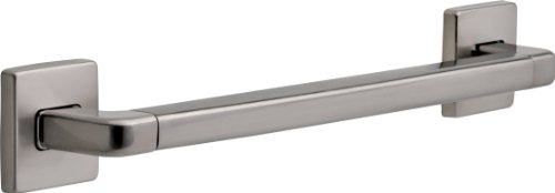 Delta 41918-SS Modern Angular Decorative ADA 18 in. x 1.25 in. Grab Bar, Stainless