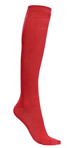 "Rambutan Unisex""Pepper Collection"" Knee High Seamless Cotton Socks (Red Pepper, 7-12)"