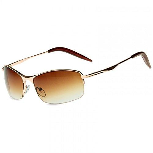 CASPAR unisexe Marron soleil sportive SG010 style Lunettes Matrix de Or qrq0B