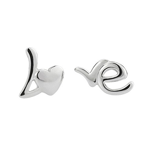 the-november-nocturne-romantic-love-english-letter-silver-plated-stud-earring-fashion-girl-jewelry