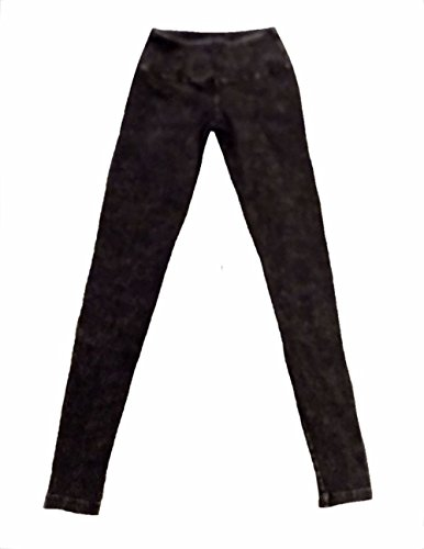 Hard Tail Flat Waist Mineral Wash Ankle Legging - Black (L, Mineral Wash - Black)