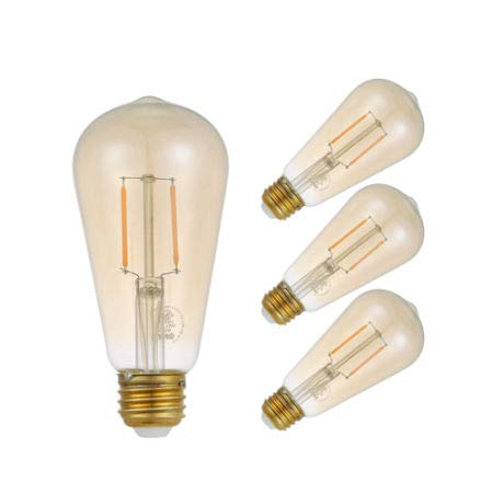 Gmy 2W ST19 120V Vintage Filament Warm E26 Led Dimmable Edison Globe Lamp Light Bulb 4//Box 10 Boxes