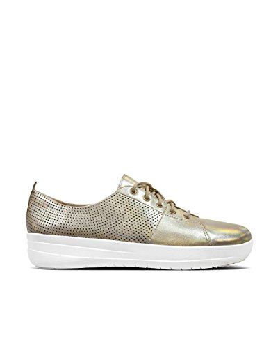 Sneakers cut Gold sporty Fitflop F Perf Scoop Leather zBggSq