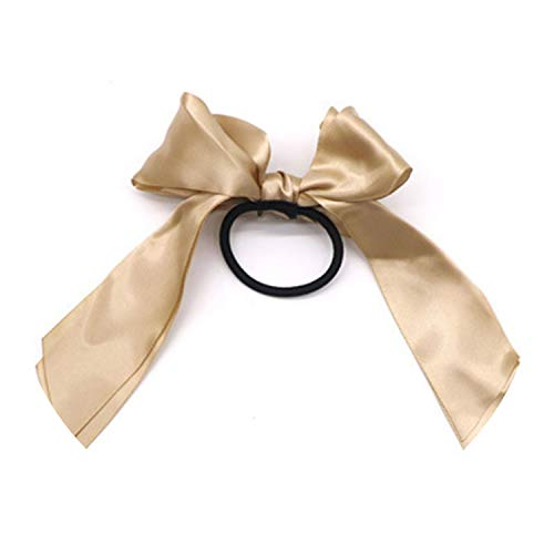 1Pc Women Rubber Hair Bands Tiara Satin Ribbon Bow Rope Hair Scrunchies Elastic Hair Accessories,5