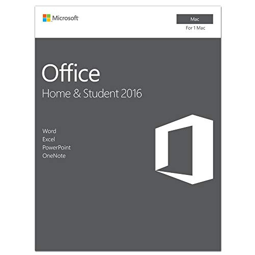 Software : Microsoft Office Home and Student 2016 for Mac | 1 user, Mac Key Card