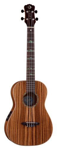 Luna High Tide Series Zebrawood Baritone Acoustic-Electric Ukulele by LUNA
